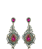 Betsey Johnson - Boho Betsey Peacock Feather Drop Earrings