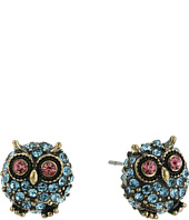 Betsey Johnson - Round Owl Stud Earrings