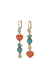 Betsey Johnson - Non-Matching Bird Drop Earrings