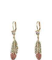 Betsey Johnson - Feather Drop Earrings