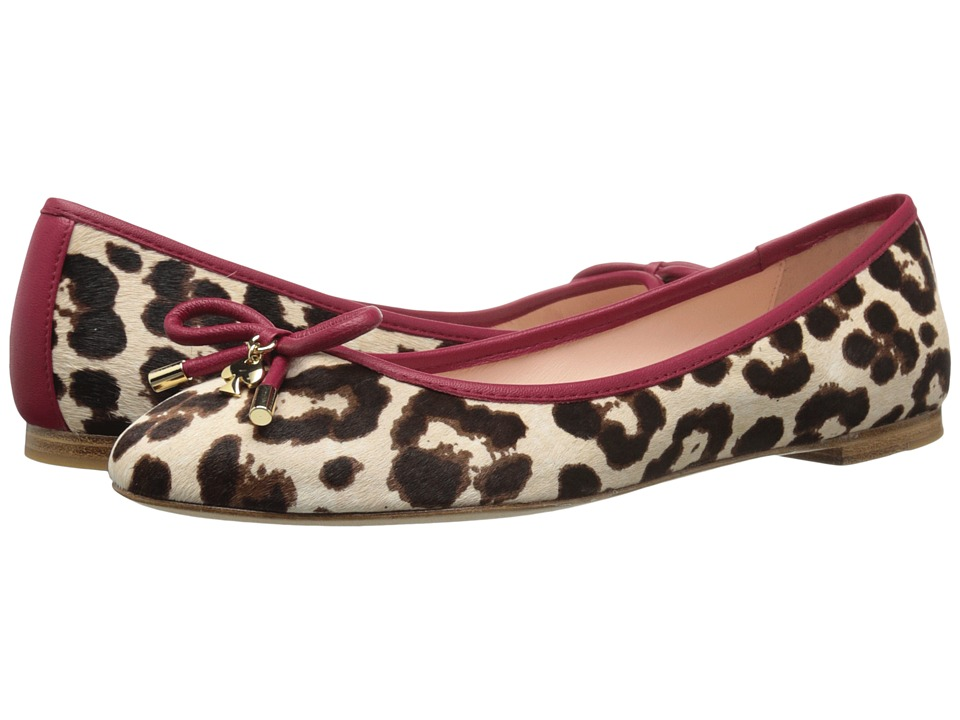 Kate Spade New York Willa (Blush/Brown Leopard Haircalf Print/Red Chestnut Nappa) Women