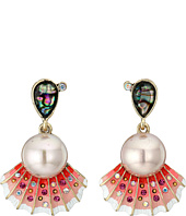 Betsey Johnson - Betsey & the Sea Seashell Drop Earrings