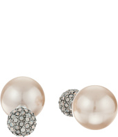 Betsey Johnson - Betsey's Boat House Pearl Front/Back Earrings