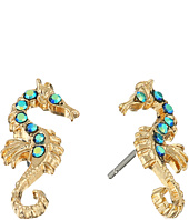 Betsey Johnson - Betsey & the Sea Seahorse Stud Earrings