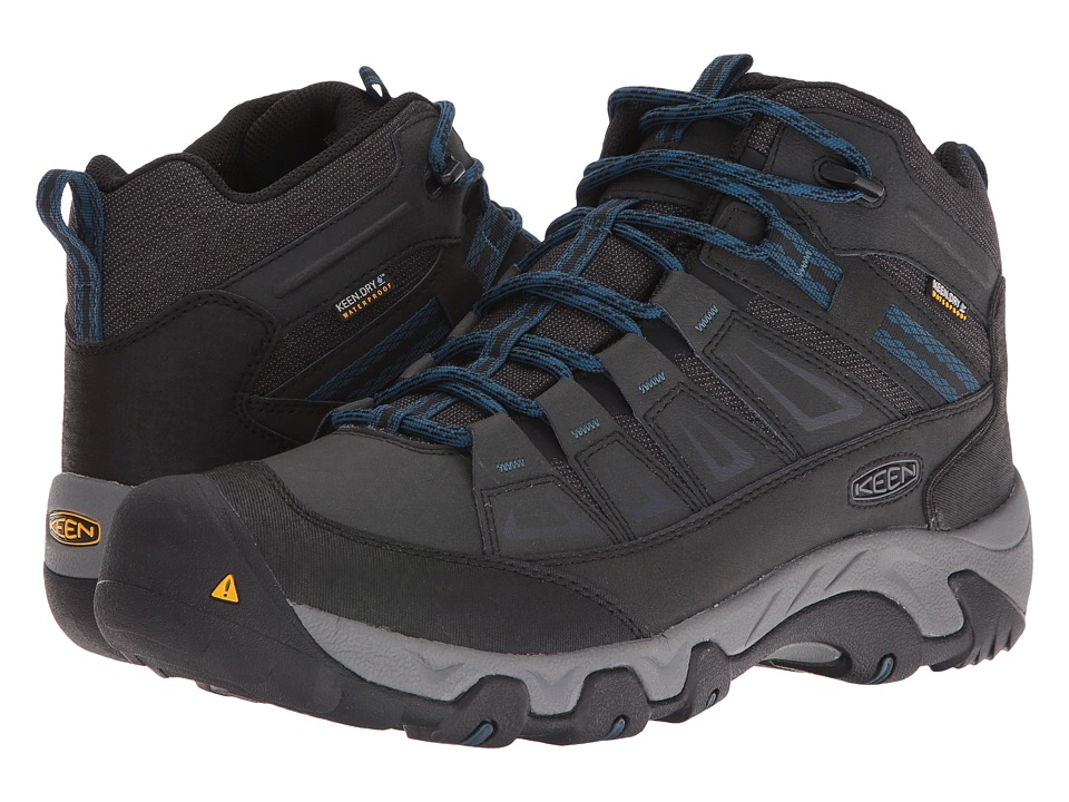 Keen Oakridge Mid Polar Waterproof (Black/Ink Blue) Men