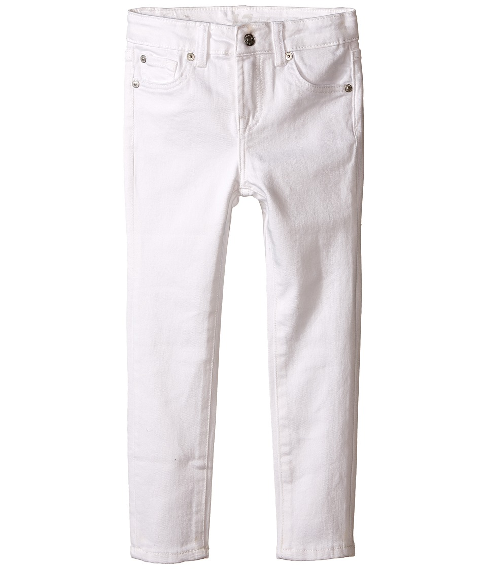 7 For All Mankind Kids - The Skinny Five-Pocket Stretch Denim Jeans in Clean White