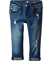 7 For All Mankind Kids - Josefina Five-Pocket Skinny Boyfriend Jeans in Red Cast Heritage Blue (Little Kids)