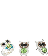 Betsey Johnson - Owl Stud Earrings and Stretch Ring Set