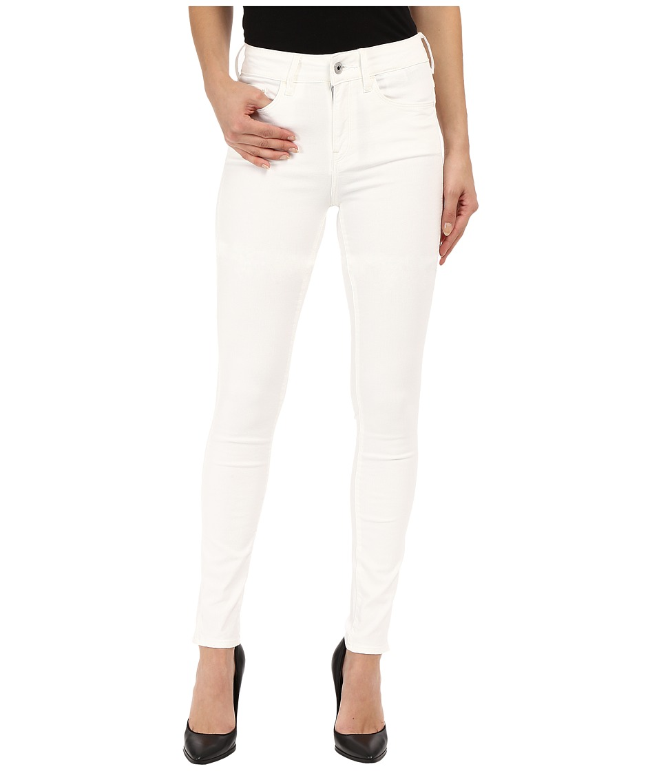 G Star 3301 Deconstructed Ultra High Skinny in White Talc Superstretch 3D Aged White Talc Superstretch 3D Aged Womens Jeans
