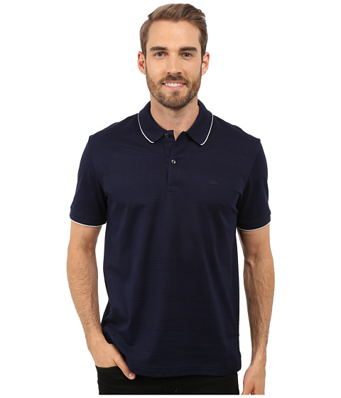 Lacoste Mercerized Piqué Polo with Piping