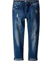 7 For All Mankind Kids - Josefina Five-Pocket Skinny Boyfriend Jeans in Red Cast Heritage Blue (Big Kids)