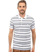 Lacoste - Heather Piqué Striped Casual Polo