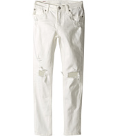 7 For All Mankind Kids - The Skinny Five-Pocket Distressed Denim Jeans in Ecru (Big Kids)