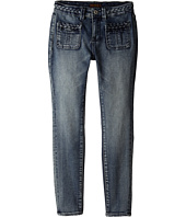 7 For All Mankind Kids - The Skinny Braided Four-Pocket Jeans in True Heritage Blue (Big Kids)