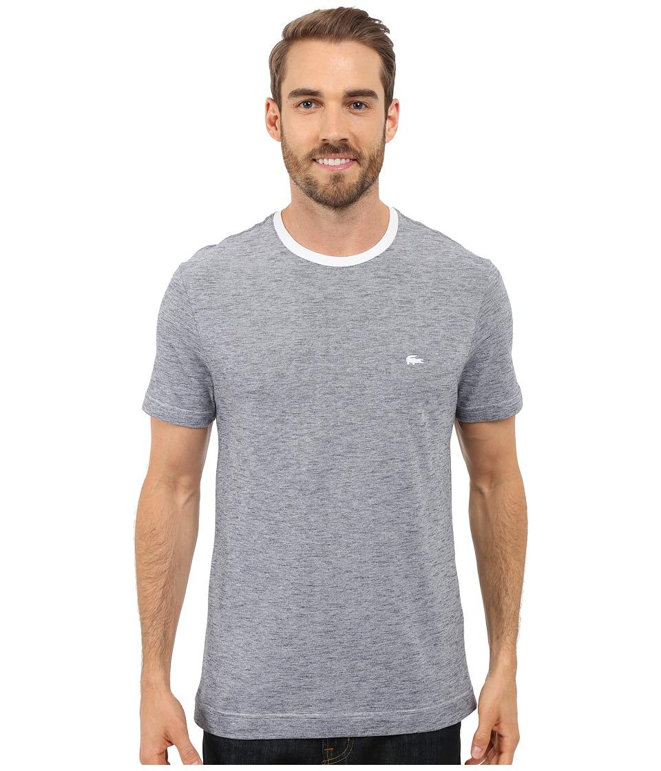 Lacoste - Heather Piqu Casual T-Shirt (White/Mineral Mouline) Men