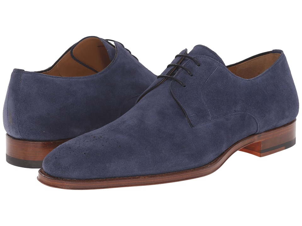 Mens Vintage Style Shoes| Retro Classic Shoes Magnanni - Gerardo Navy Mens Lace up casual Shoes $259.99 AT vintagedancer.com