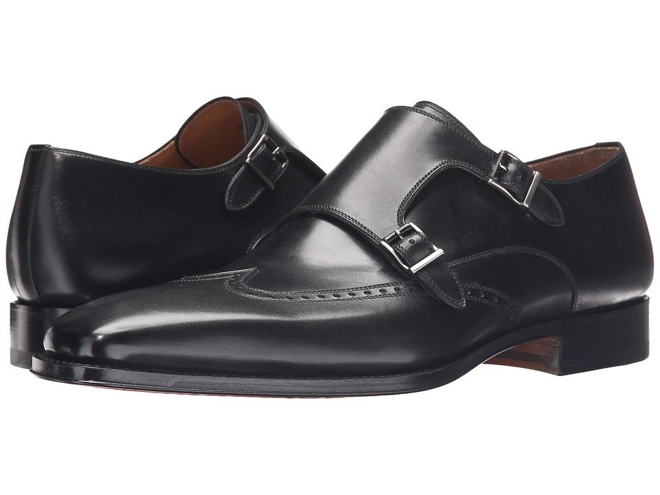 Magnanni - Logan (Black) Mens Monkstrap Shoes