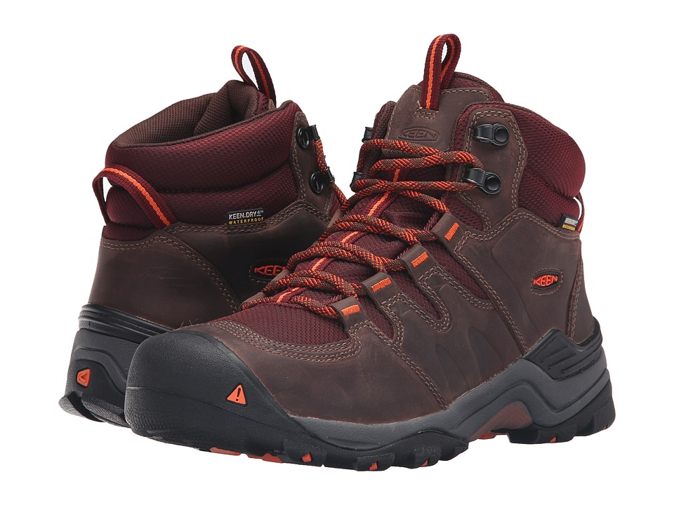 Keen - Gypsum II Mid Waterproof (Cocoa/Tiger Lilly) Women