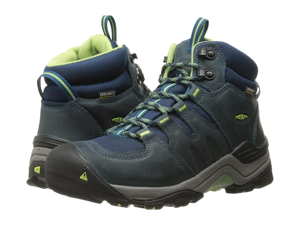 Keen Gypsum II Mid Waterproof (Midnight Navy/Opaline) Women's Waterproof Boots