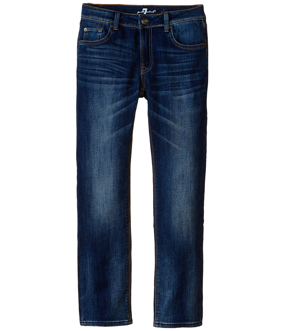 7 For All Mankind Kids Slim Straight Jeans in Heritage Blue (Little Kids/Big Kids) (Heritage Blue) Boy
