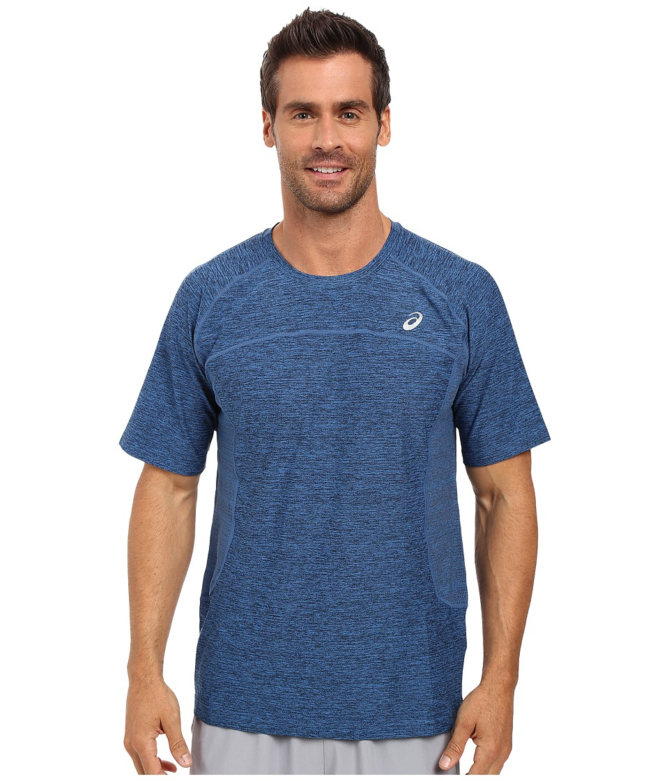 ASICS - Lite-Show Short Sleeve (Imperial Blue Heather) Men