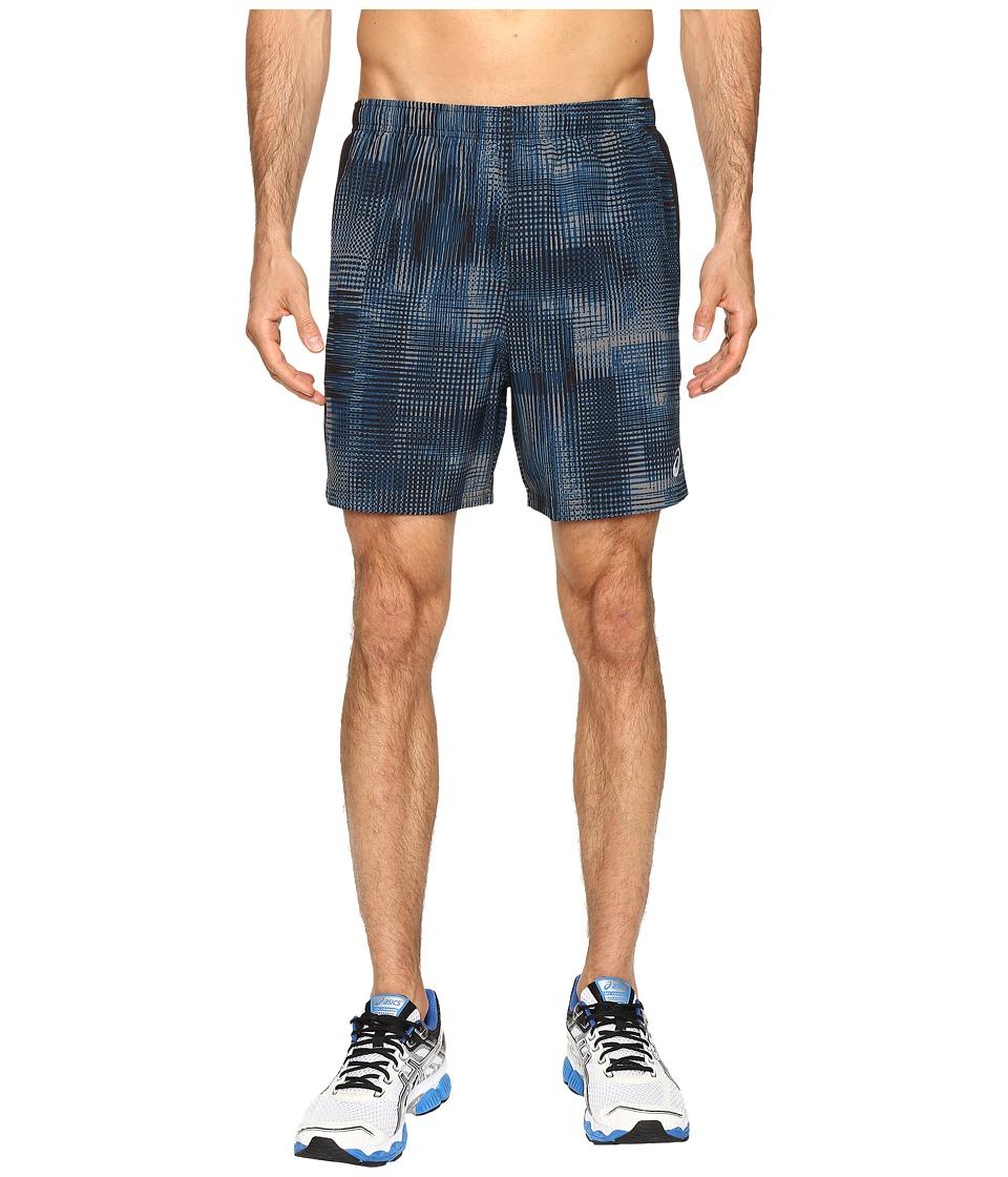 Image of ASICS - 2-N-1 Woven 6 Shorts (Poseidon Linear Blur) Men's Shorts
