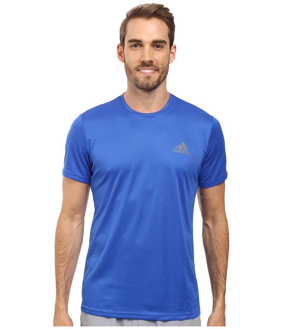 adidas - Essential Tech Crew Tee (Blue/Vista Grey) Men