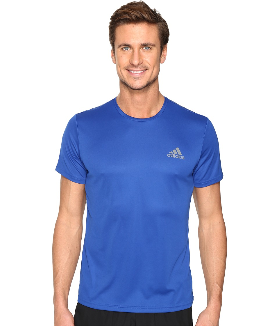 adidas Essential Tech Crew Tee (Collegiate Royal/Vista Grey) Men