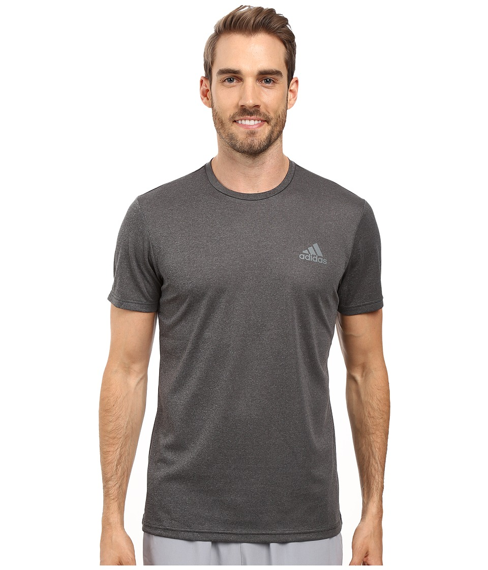 adidas Essential Tech Crew Tee (Dark Heather Grey/Vista Grey) Men
