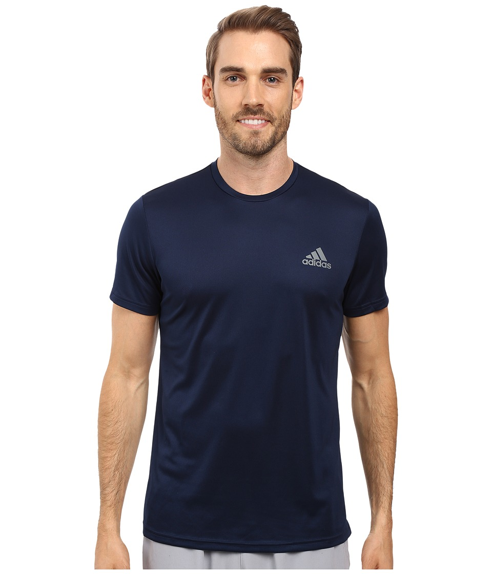 adidas Essential Tech Crew Tee (Collegiate Navy/Vista Grey) Men