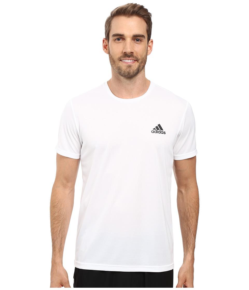 adidas - Essential Tech Crew Tee (White/Black) Men
