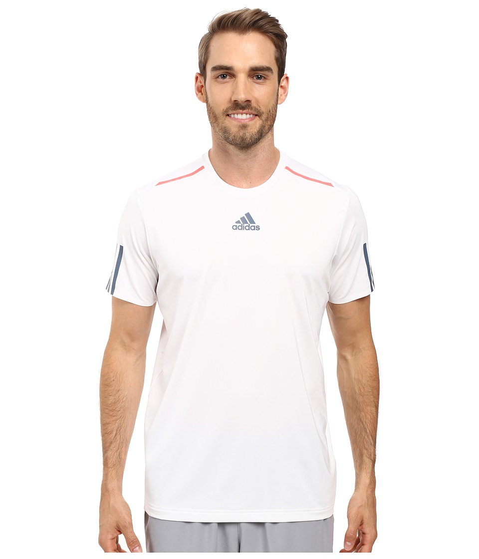 adidas - BARRICADE Tee (White/Tech Ink/Flash Red) Men