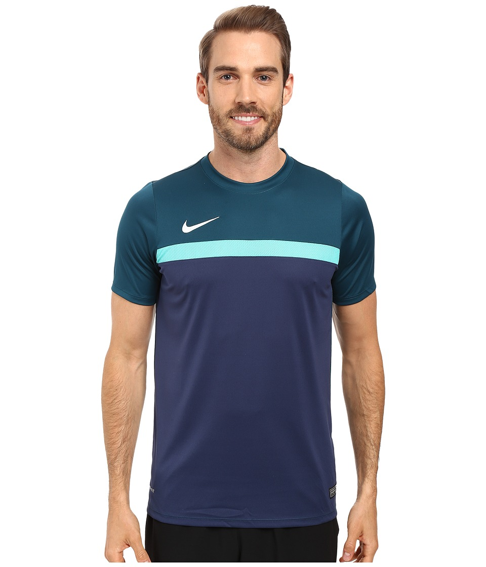 Nike Academy S/S Training Top 1 (Midnight Turquoise/Hyper Jade/Midnight Navy/White) Men