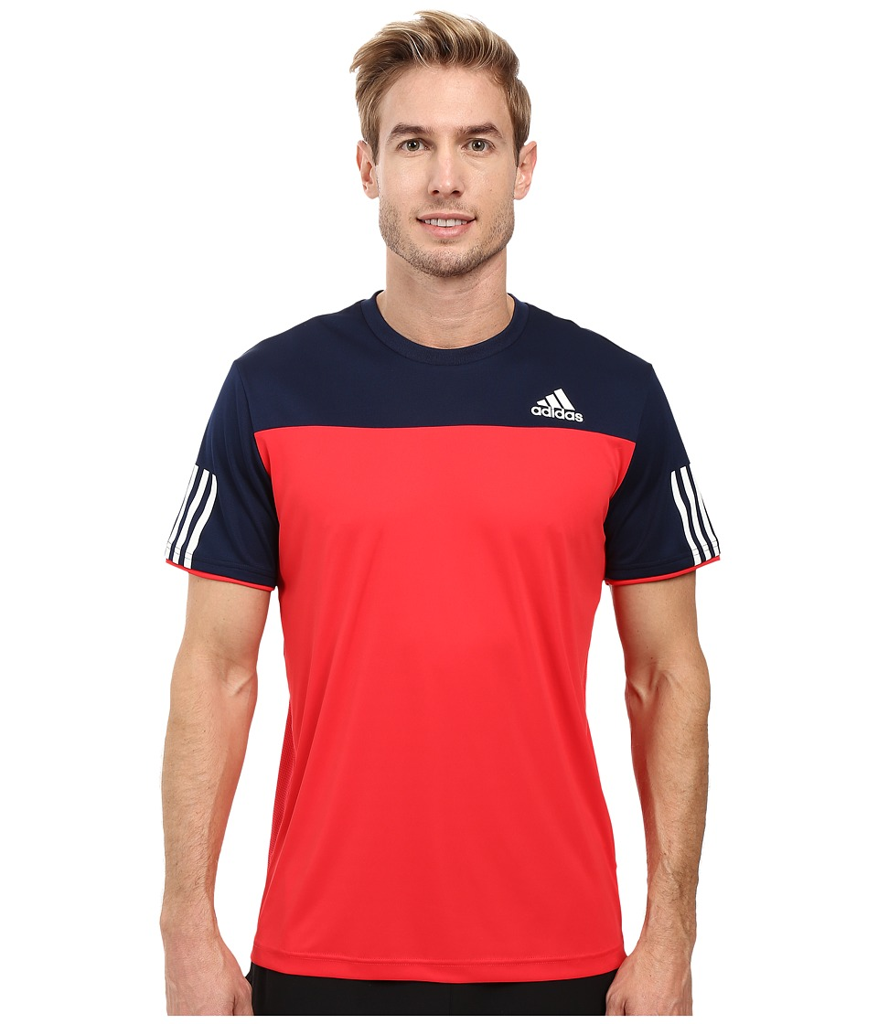 adidas - Club Tee (Ray/Red/Collegiate Navy/White) Men