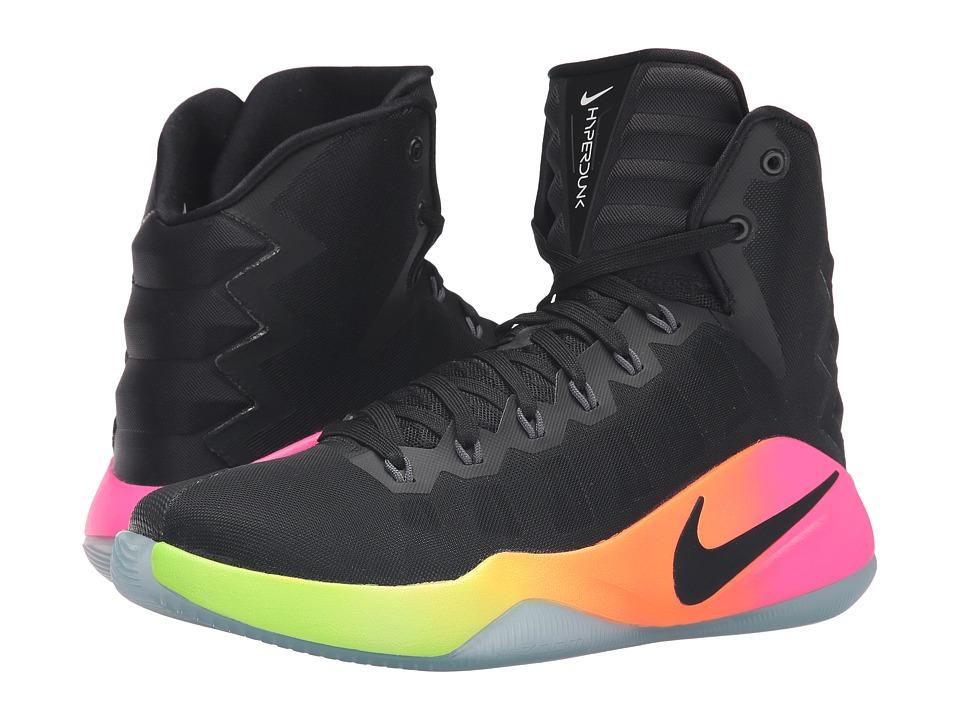 Nike - Hyperdunk 2016 (Black/Pink Blast/Volt/Black) Men