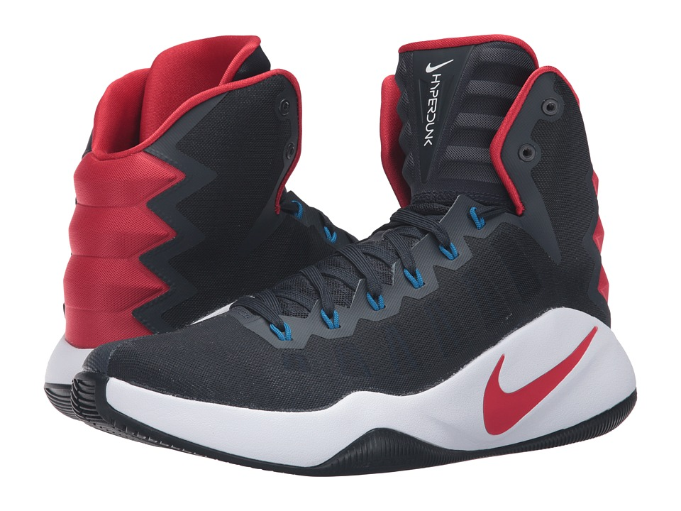 Nike - Hyperdunk 2016 (Dark Obsidian/Bright Crimson/Dark Obsidian) Men