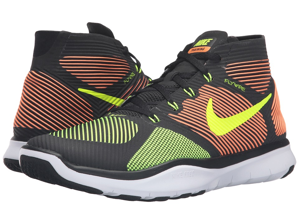 Nike - Free Train Instinct (Black/Total Orange/White/Volt) Men