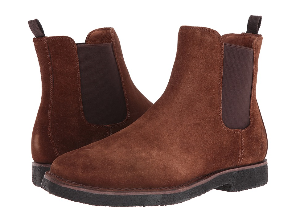 Frye Arden Chelsea (Brown Oiled Suede) Men