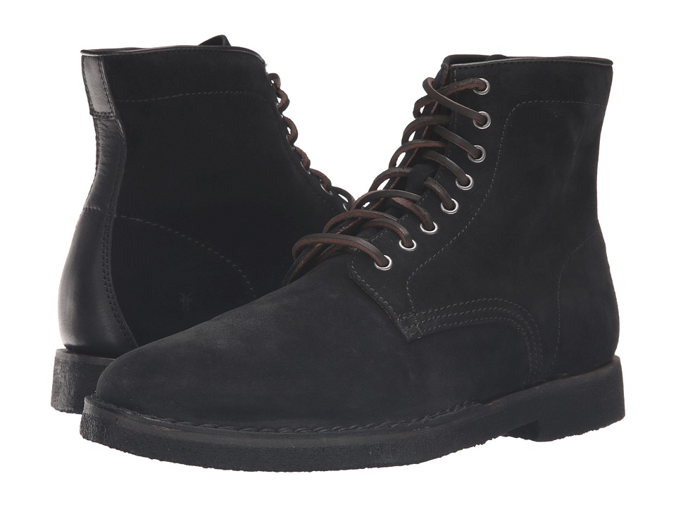 Frye - Arden Lace-Up (Black Oiled Suede) Men