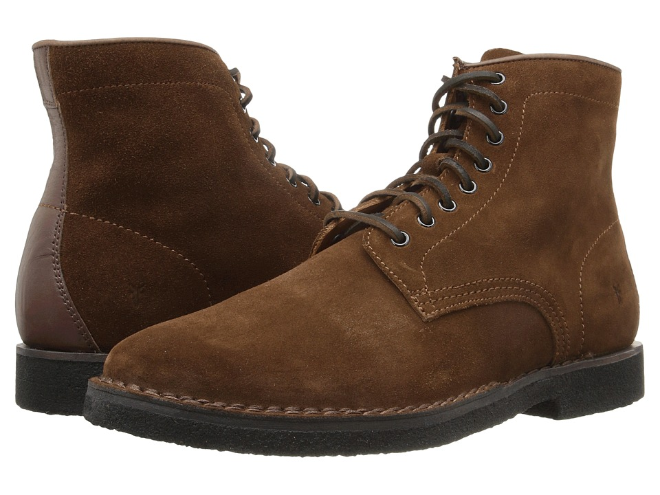 Frye - Arden Lace-Up (Brown Oiled Suede) Men