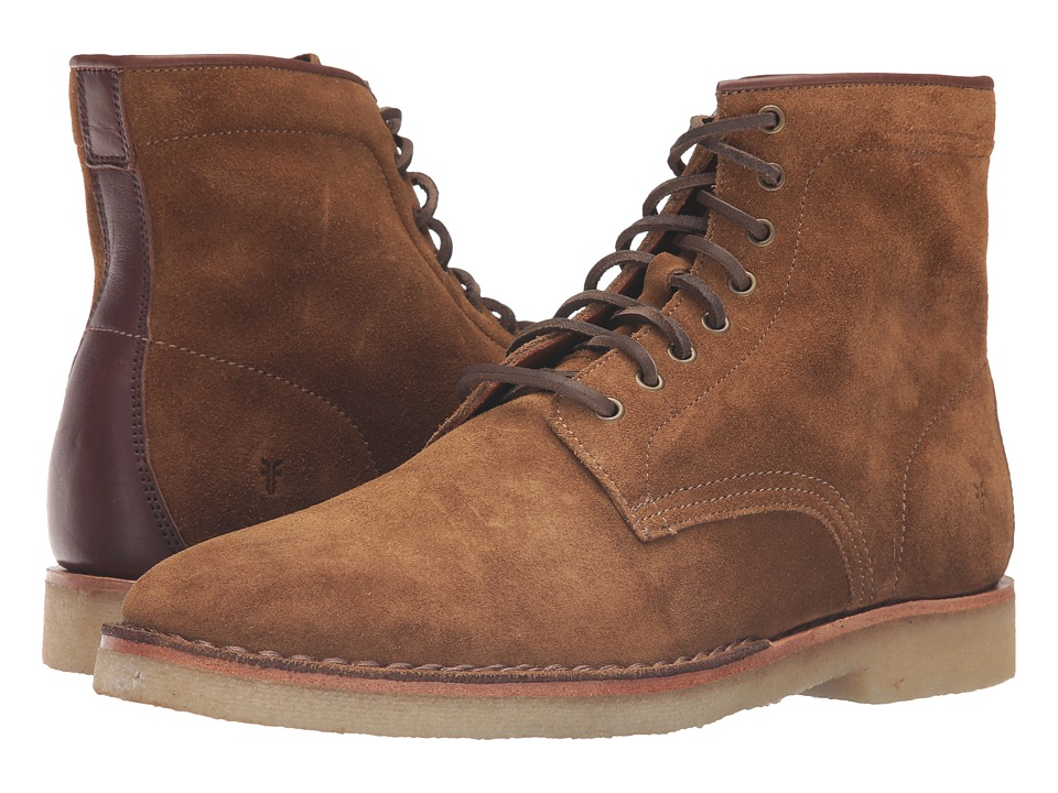 Frye - Arden Lace-Up (Khaki Oiled Suede) Men
