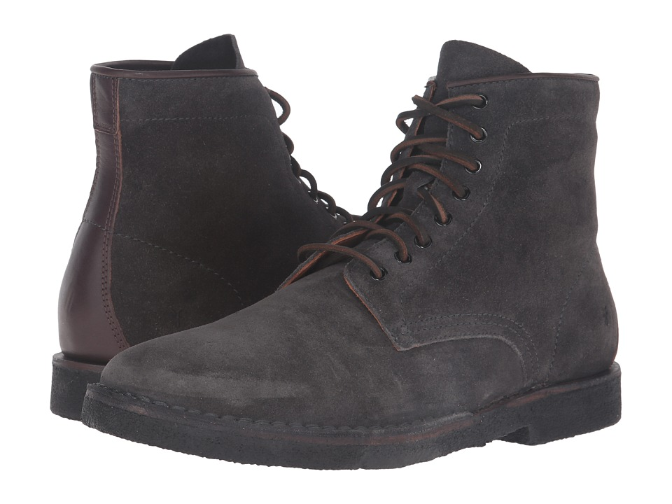 Frye - Arden Lace-Up (Slate Oiled Suede) Men