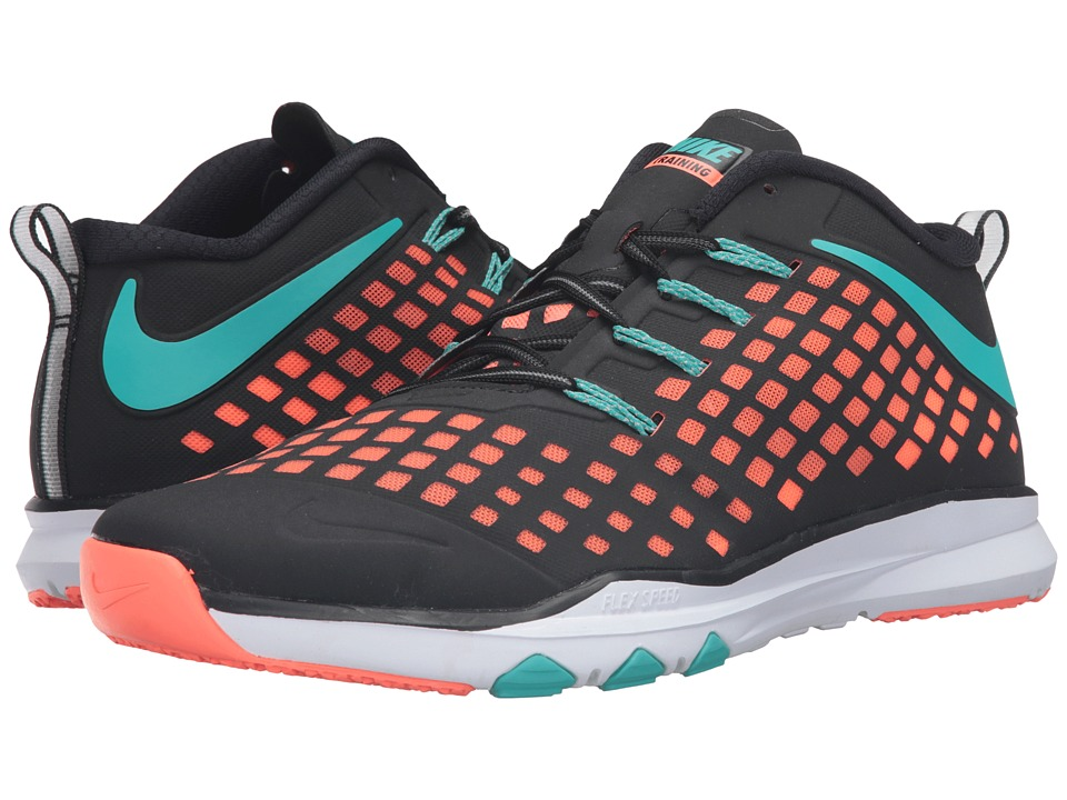 Nike - Train Quick (Black/Bright Mango/Hyper Jade) Men