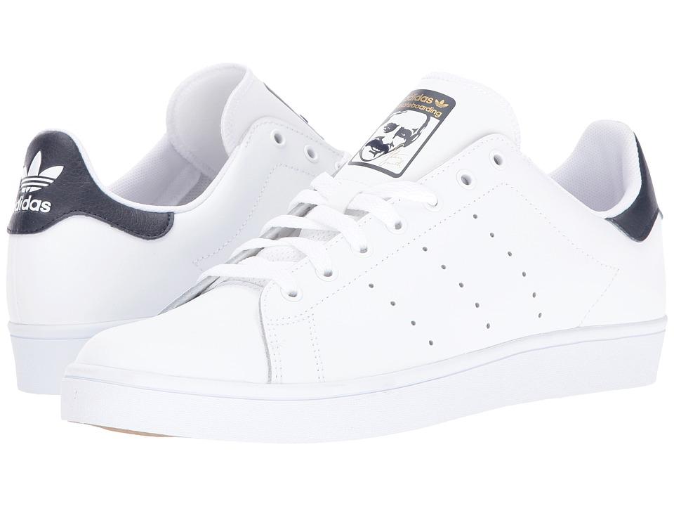 adidas Skateboarding - Stan Smith (White/White/Collegiate Navy) Skate Shoes