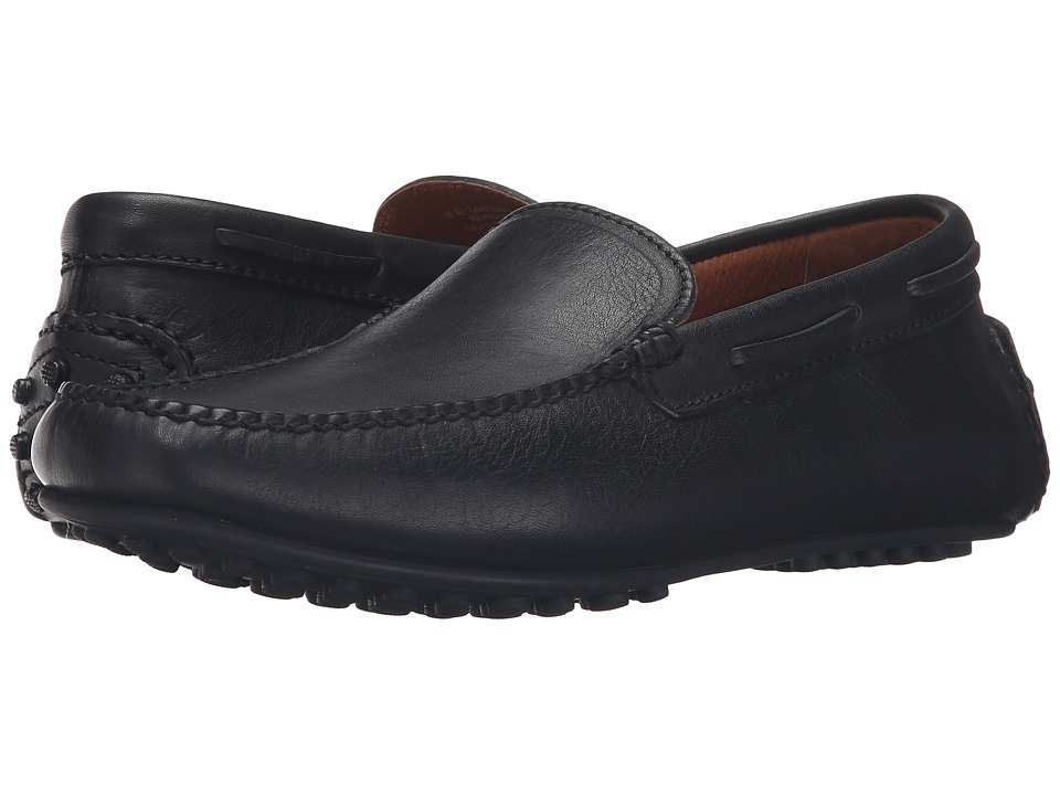 Frye - Allen Venetian (Black Tumbled Full Grain) Mens Slip on  Shoes