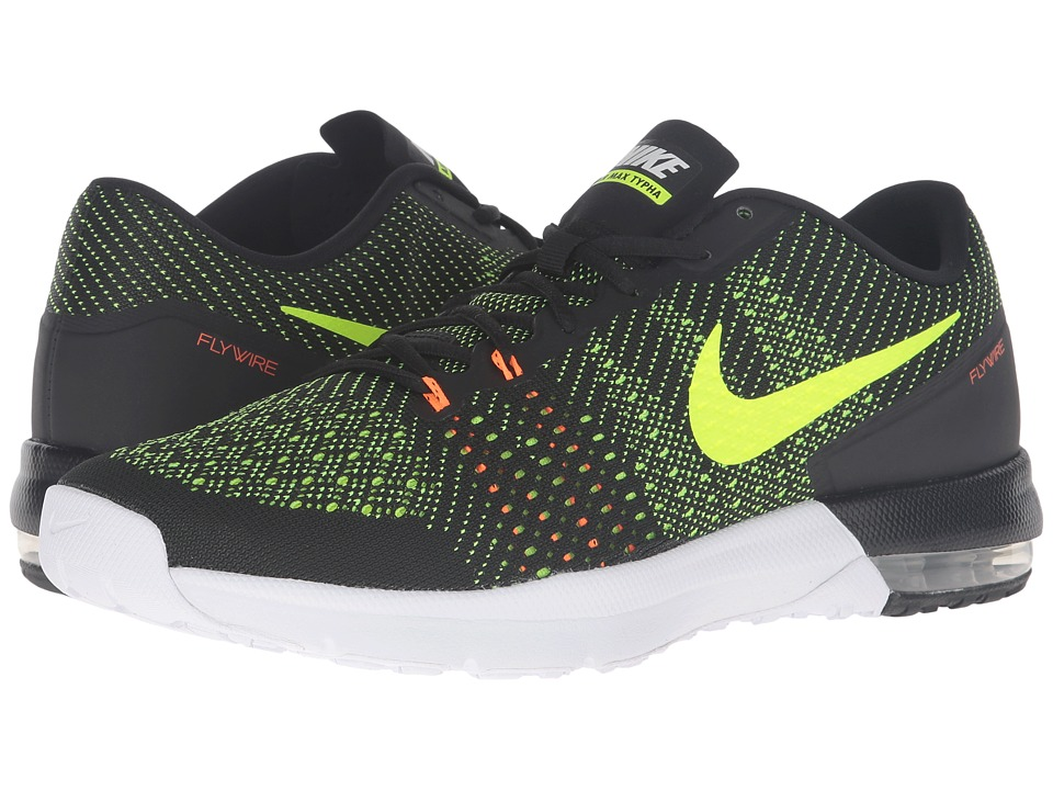 Nike - Air Max Typha (Black/Total Orange/White/Volt) Men
