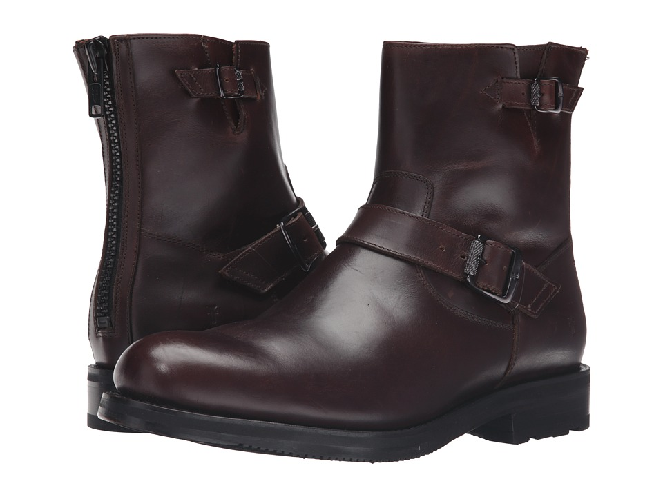Frye - Brayden Engineer (Dark Brown Smooth Pull Up) Men