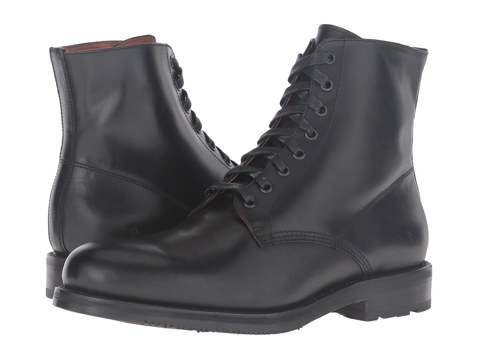 Frye - Brayden Lace-Up (Black Smooth Pull Up) Men