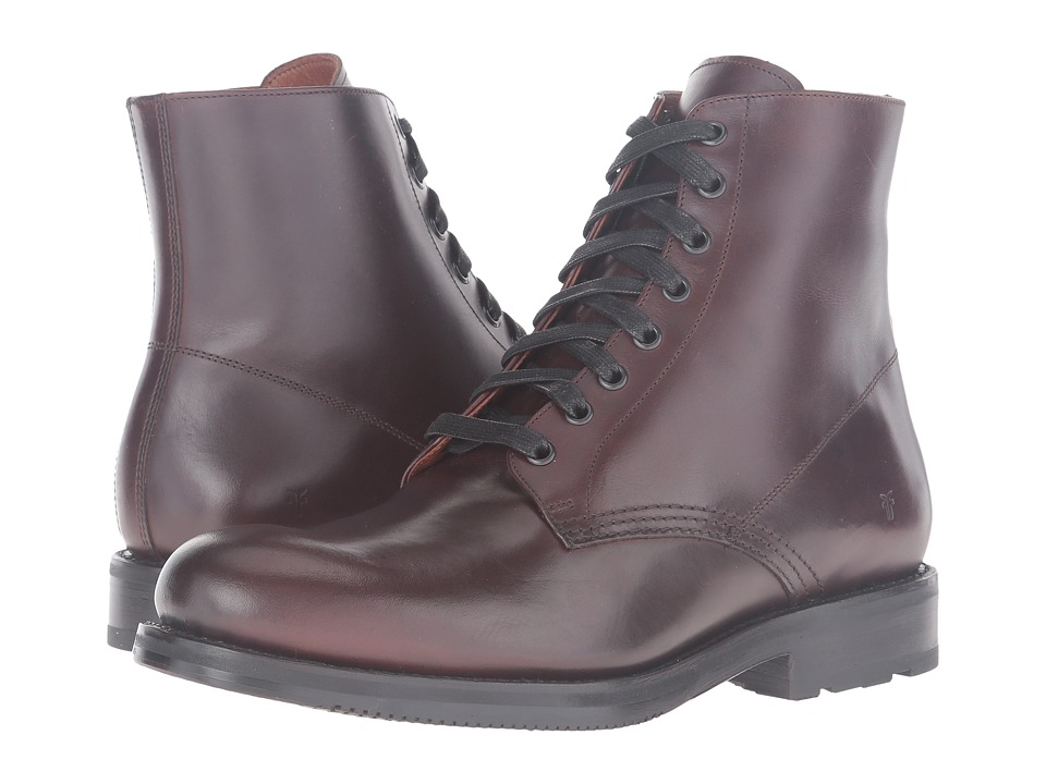 Frye - Brayden Lace-Up (Dark Brown Smooth Pull Up) Men