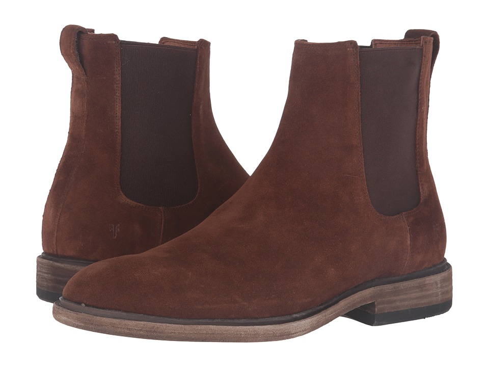 Frye Chris Chelsea (Brown Oiled Suede) Men